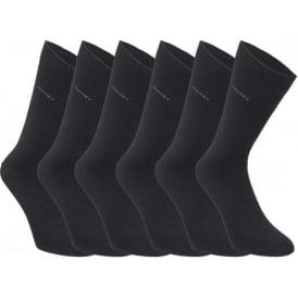 Jockey 6 Pack Cotton Rich Business Socks, Black