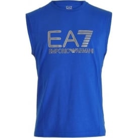 EA7 Emporio Armani Train Visibility Logo Tank Top, Royal Blue