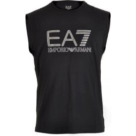 EA7 Emporio Armani Train Visibility Logo Tank Top, Night Blue