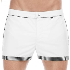 HOM Santa Cruz Bond Swim Shorts, White