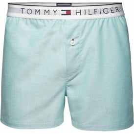 Tommy Hilfiger Heritage Oxford Woven Boxer Short, Columbia