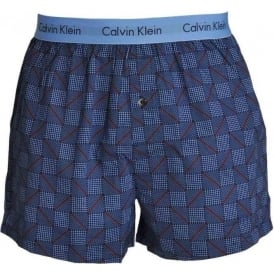 Calvin Klein Woven Slim Fit Boxer, Structured Print Magestic