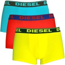 DIESEL Fresh & Bright 3-Pack Boxer Trunk UMBX-Shawn, Red / Blue / Yellow