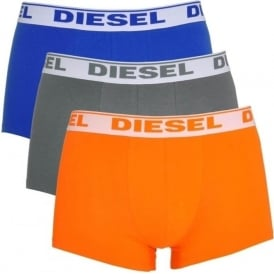 DIESEL Fresh & Bright 3-Pack Boxer Trunk UMBX-Shawn, Orange / Grey / Blue