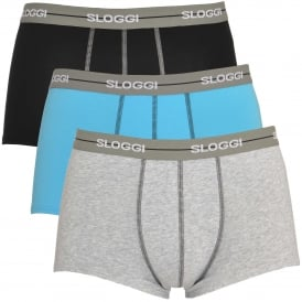 Sloggi Start 3-Pack Hipster, Black/Grey/Blue