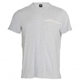 HUGO BOSS Pure Cotton Crew Neck T-Shirt, Silver