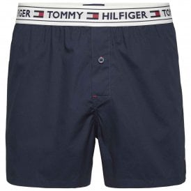 Tommy Hilfiger Authentic Woven Boxer, Navy Blazer