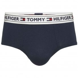 Tommy Hilfiger Authentic Cotton Stretch Hip Brief, Navy Blazer