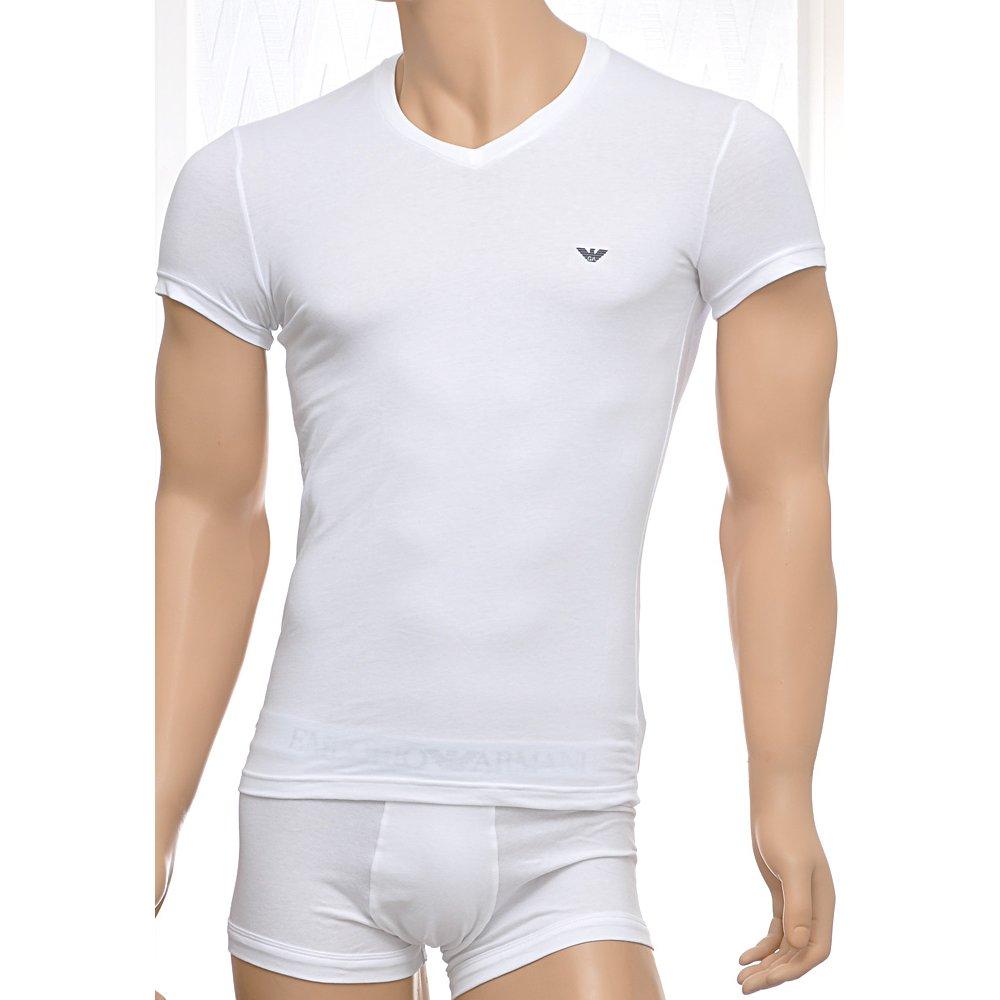 armani t shirt emporio armani stretch cotton v neck t shirt. Black Bedroom Furniture Sets. Home Design Ideas
