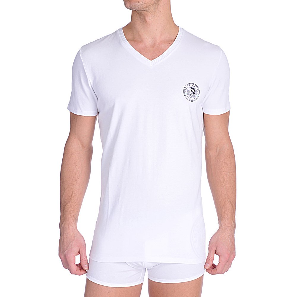 Diesel V-Neck T-Shirt UMTEE Michael White | Diesel V-Neck ...
