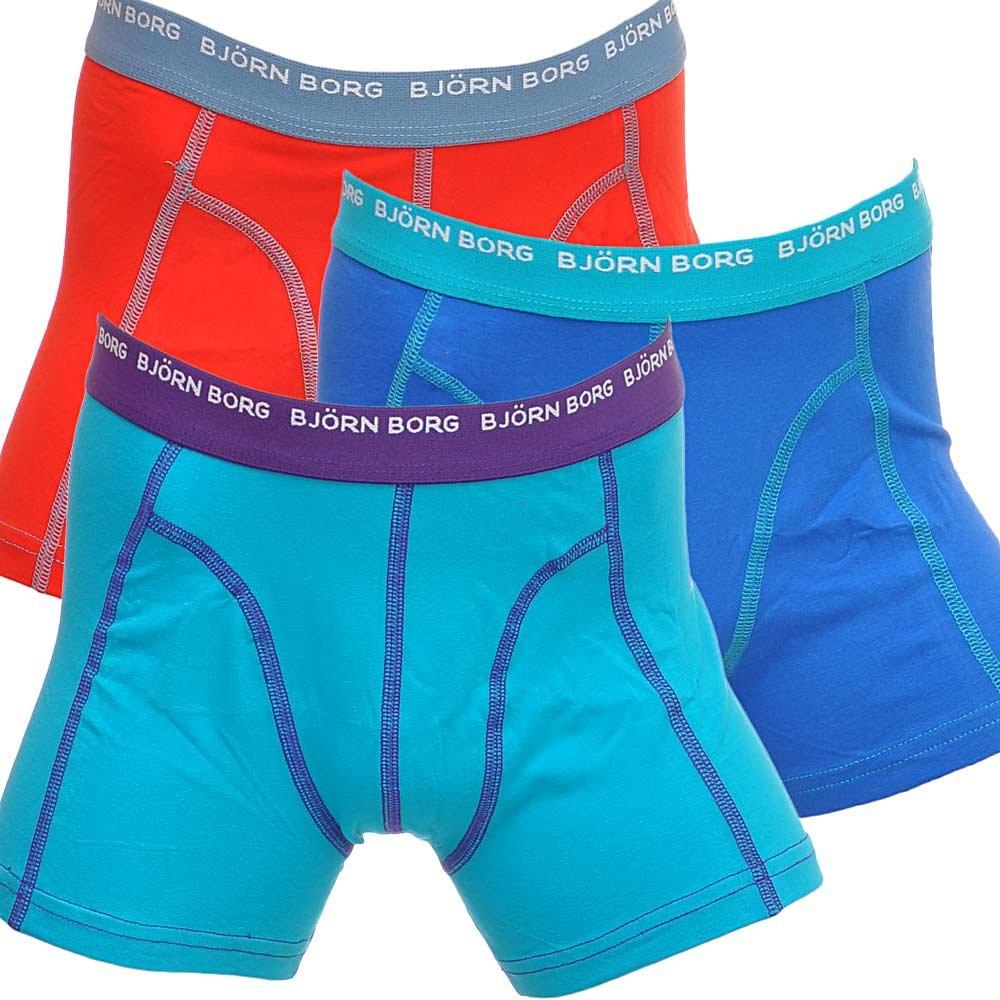 bjorn borg 3 to go boys boxers blue red turquoise bjorn borg boys boxers. Black Bedroom Furniture Sets. Home Design Ideas