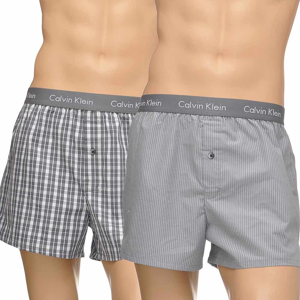 Calvin Klein Underwear SLIM FIT 2 PACK - Boxer - black/grey NLcqiE7Y