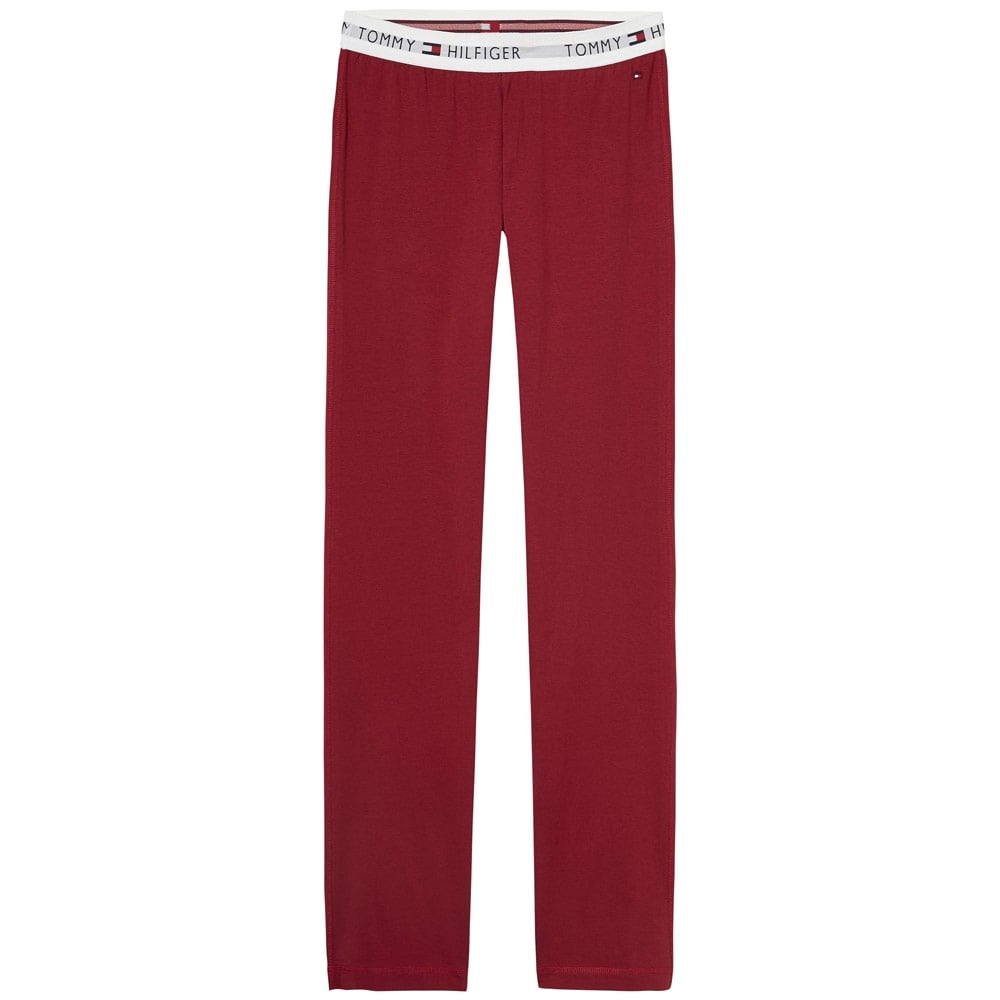 Tommy Hilfiger Women Iconic Cotton PJ Lounge Pant, Rhubarb Red. ‹