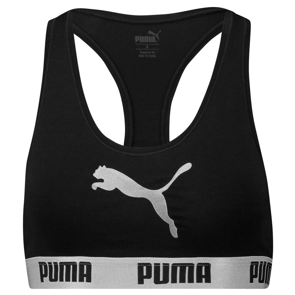 381efb63f6adf Puma Womens Cotton Modal Stretch Cat Logo Racerback Bra