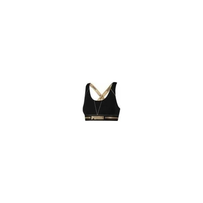 81035025447d2 Puma Womens Cotton Modal Stretch Cross-Back Bra