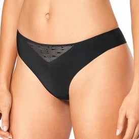 S ZERO Feel Signature Thong, Black