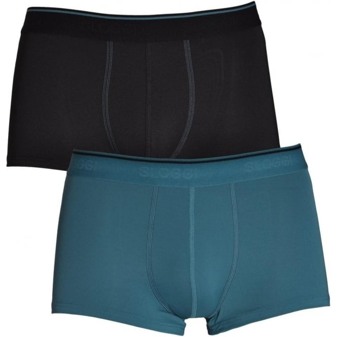 Sloggi 24/7 2-Pack Microfibre Hipster, Blue / Black