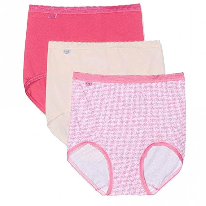 Sloggi Basic 3 Pack Maxi Brief, Pinks