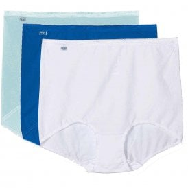 Basic 3 Pack Maxi Brief, Turquoise - Dark Combo