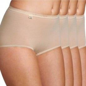 Basic 4 Pack Maxi Brief, Skin