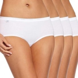 Basic 4 Pack Midi Brief, White