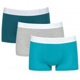 GO 3-Pack Hipster, Turquoise Blue/Teal Green/Heather Grey