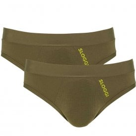 GO ALLROUND 2-Pack Sports Brief, Havana Green