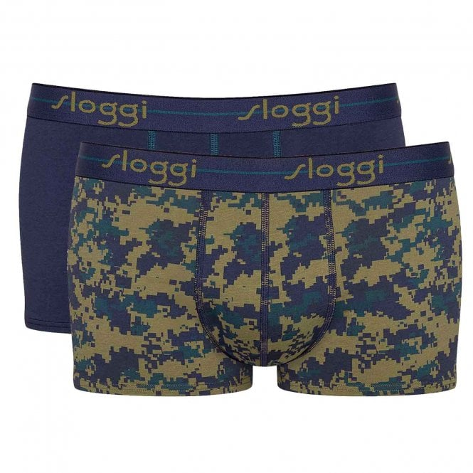 Sloggi Start 2-Pack Hipster, Navy / Print