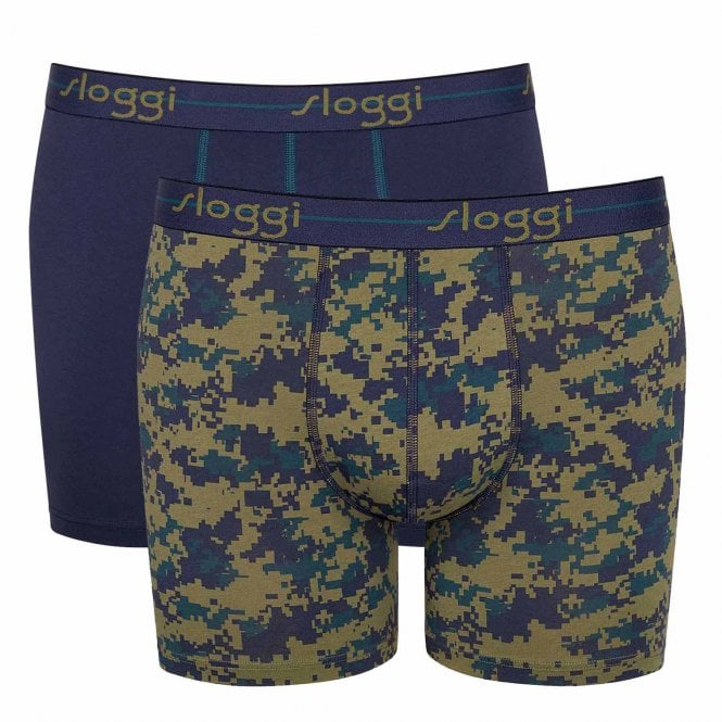 Sloggi Start 2-Pack Short, Navy / Print