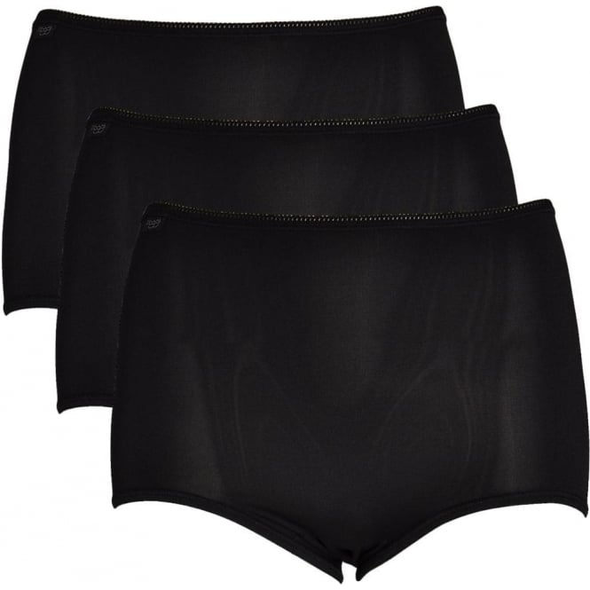 Sloggi Women 24/7 Microfiber Maxi Brief 3-Pack, Black