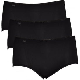 24/7 Microfiber Midi Brief 3-Pack, Black
