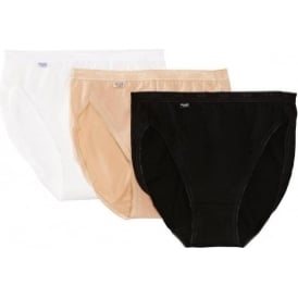 Basic 3 Pack Tai Brief, Black/Nude/White