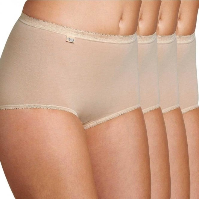 Sloggi Women Basic 4 Pack Maxi Brief, Skin