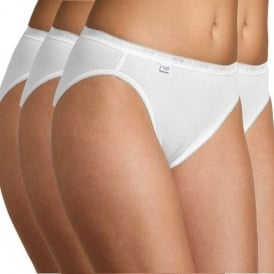 Basic 4 Pack Tai Brief, White