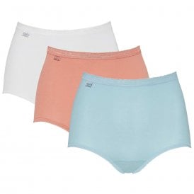Basic 3 Pack Maxi Brief, Blue / Light Combination