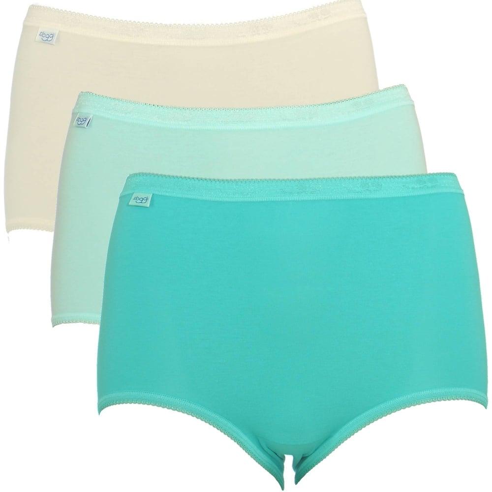 419cf505eca8 Sloggi Womens Basic Pack 3 Pack Maxi Brief Turquoise/Cream
