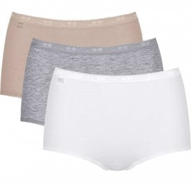 Basic 3 Pack Maxi Brief, White / Light Combination