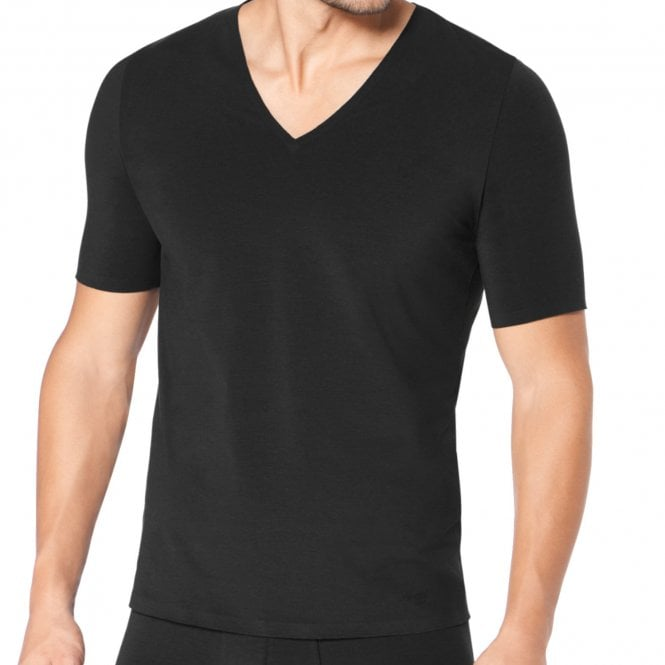 Sloggi ZERO Feel V-Neck T-Shirt, Black