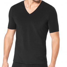 ZERO Feel V-Neck T-Shirt, Black