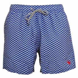 CAVEN Rectangle Geo Swim Shorts, Blue