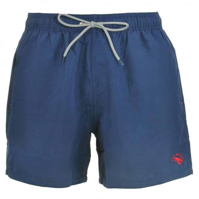 TED BAKER DANBURY Plain Swim Shorts, Navy