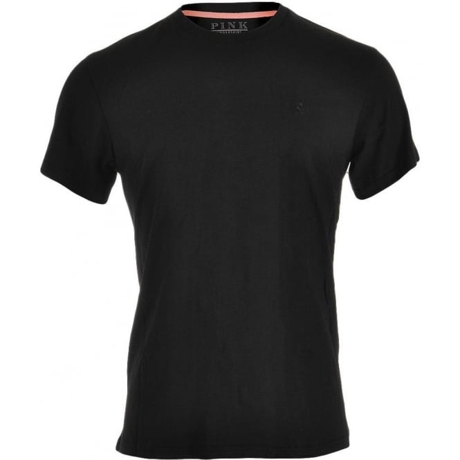 Thomas Pink Cotton Crew Neck Short Sleeve T-shirt, Black