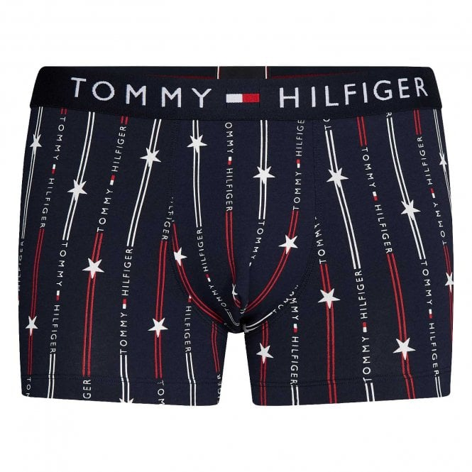 Tommy Hilfiger All Over Print Cotton Stretch Trunk, Stars & Stripes