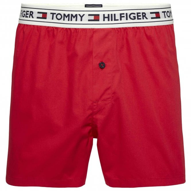 Tommy Hilfiger Authentic Woven Boxer, Tango Red