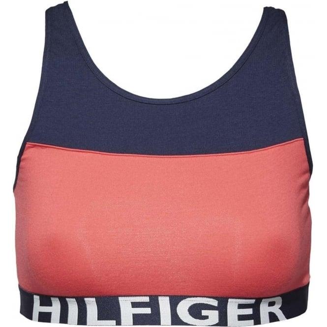 Tommy Hilfiger Bold Cotton Bralette, Teaberry / Navy Blazer