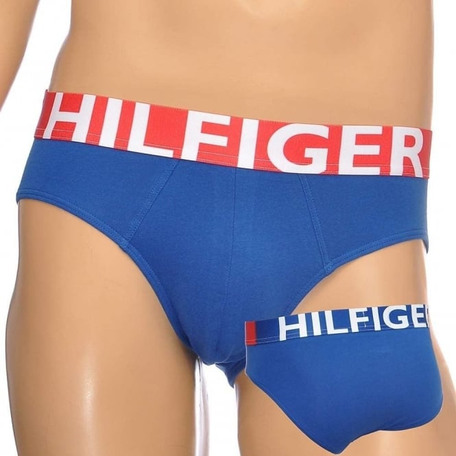 Tommy Hilfiger Bold Cotton Stretch Brief, Blue