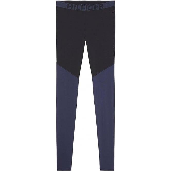 Tommy Hilfiger Bold Microfiber Legging, Black / Navy Blazer