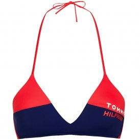 Bold Swim Halterneck Triangle Bikini Top, Red Glare