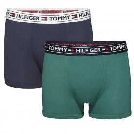 Boys 2 Pack AUTHENTIC Boxer Trunk, Bayberry / Navy Blazer