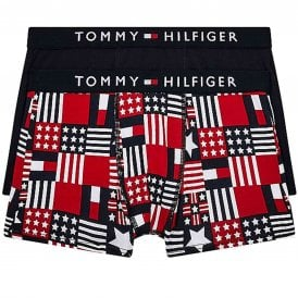 Boys 2 Pack Original Cotton Boxer Trunk, Mbu/Tommyland/Aop/Desert Sky